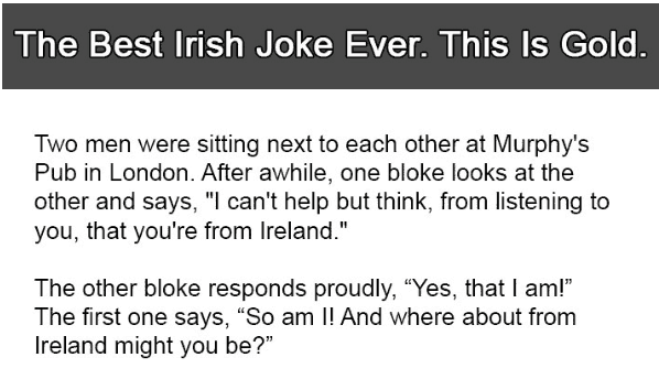 This is the best Irish joke ever