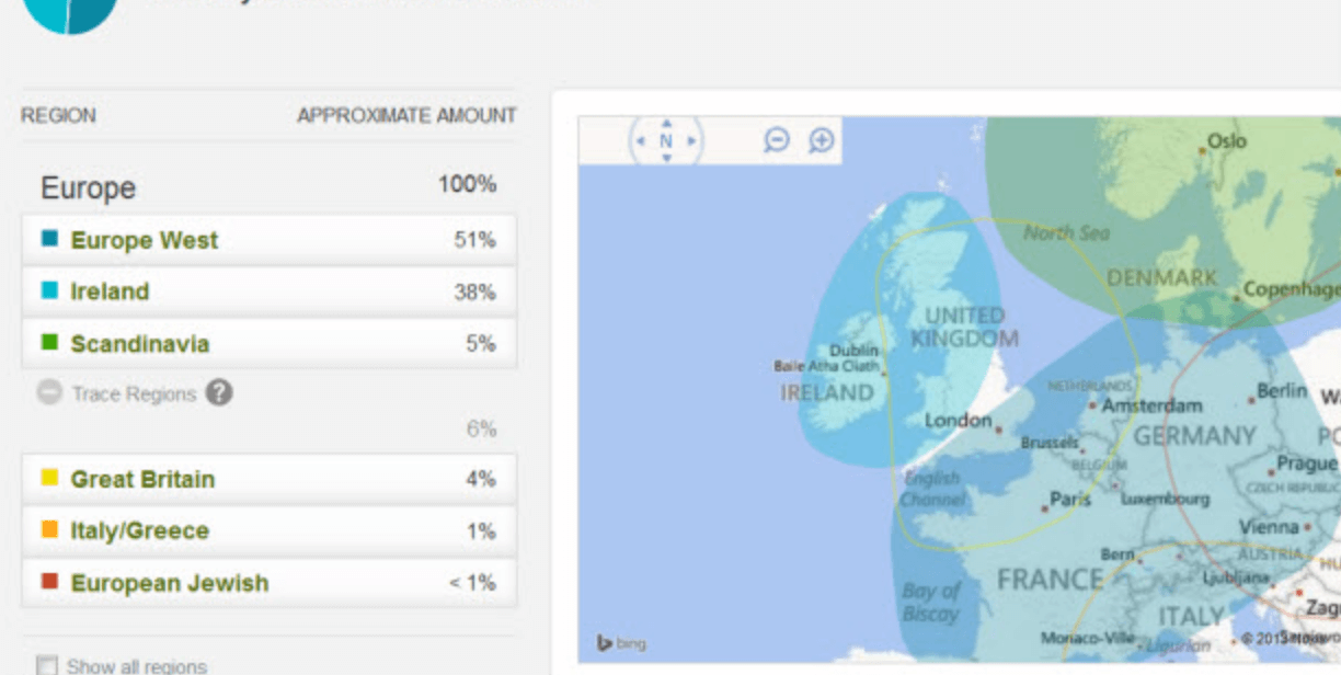 Ancestry Dna kit results from test (1)