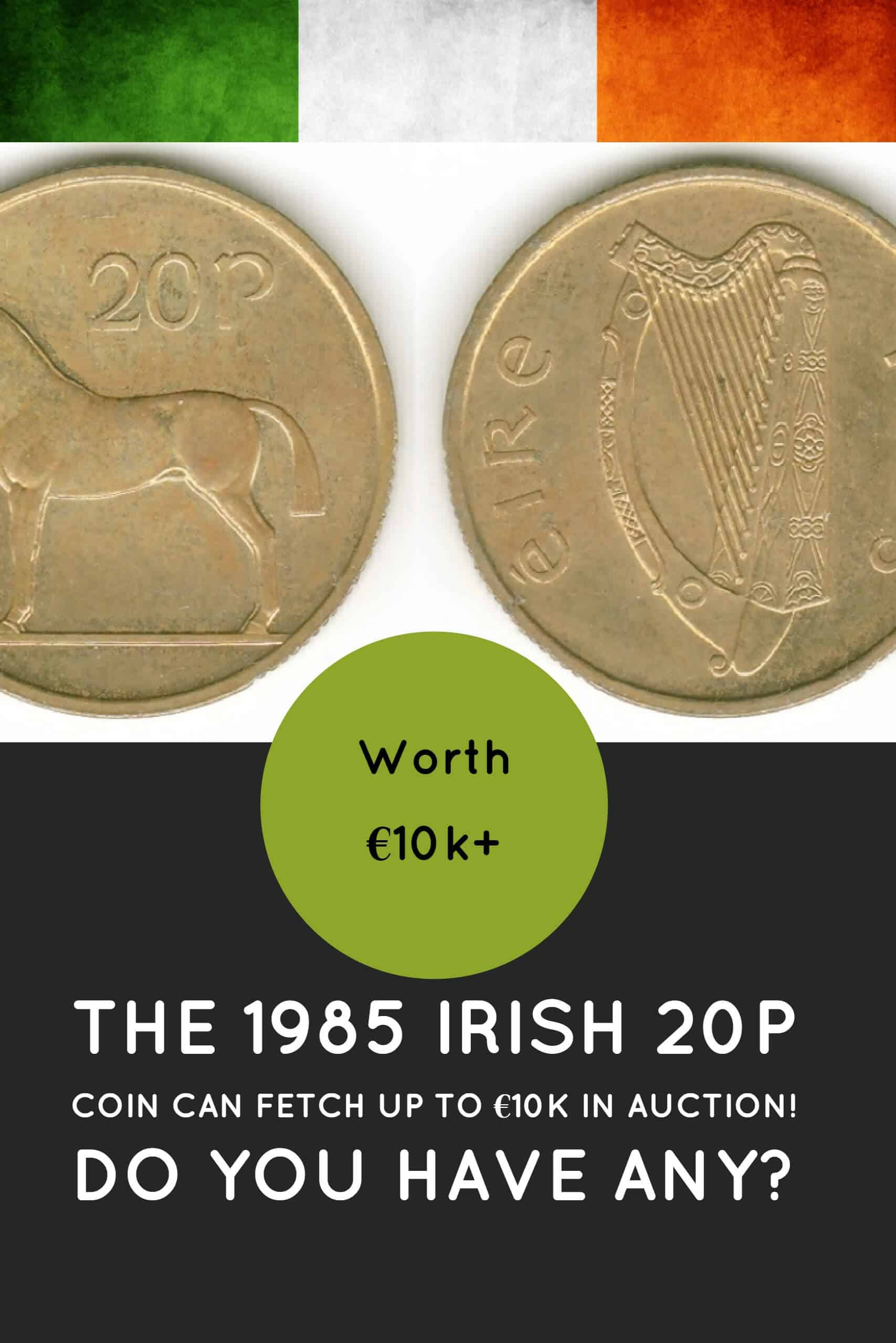 20p old Irish coins could fetch up to 10k at auction