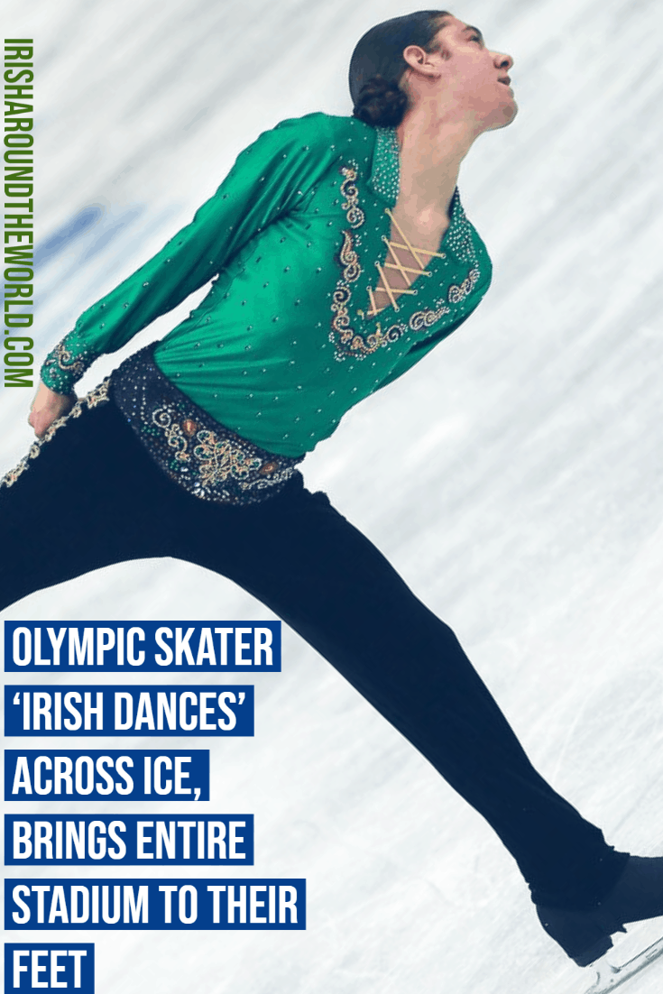 Olympic Skater 'Irish Dances' Across Ice, Brings Entire Stadium To Their Feet