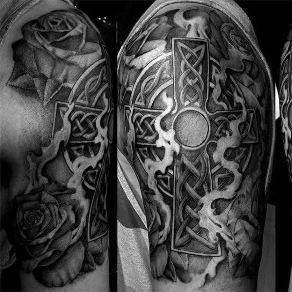celtic cross tattoo example 3 (1) - Irish Around The World