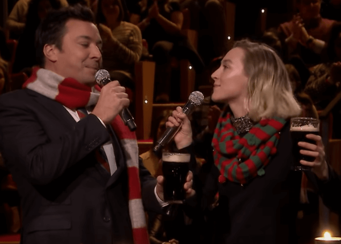 Saoirse Ronan and Jimmy Sing Fairytale Of New York