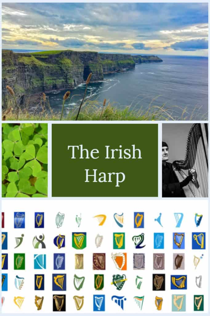 The Irish harp - The Celtic harp is a common simple on Irish coins and coats of arms