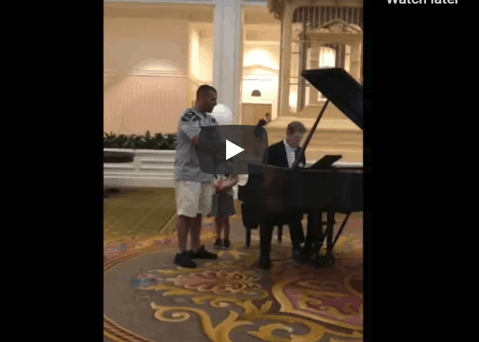 Dad goes viral singing 'beautiful' Ave Maria for daughter at Disney W_ -