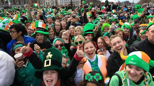 St Patrick's day celebrations