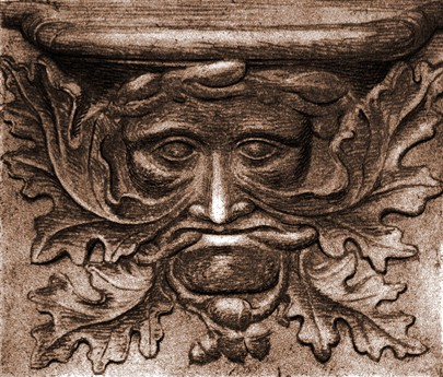 Medieval misericord; abbey-church of Vendôme, France