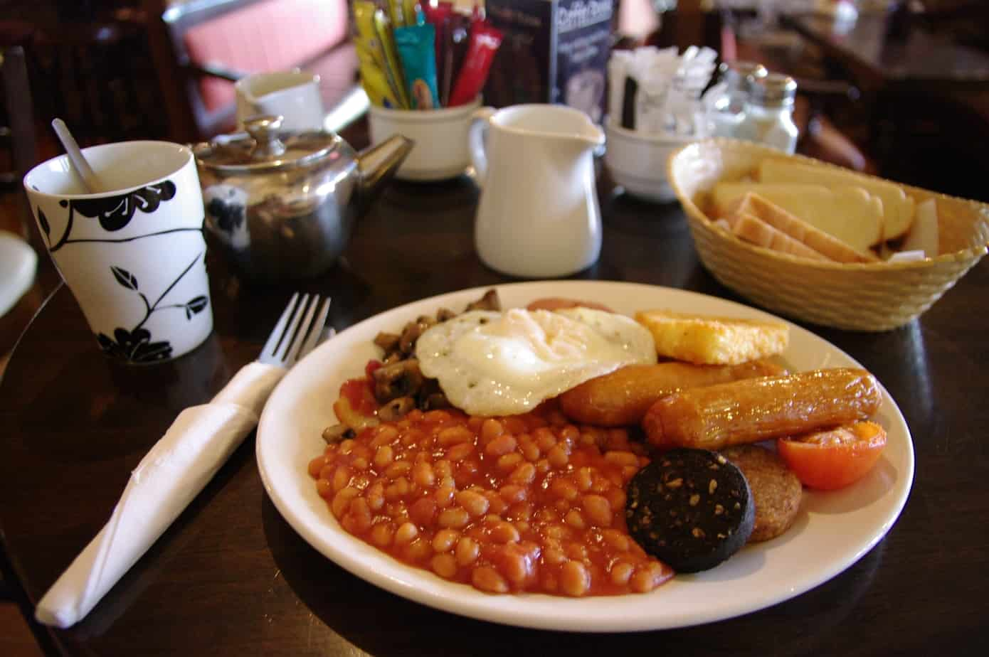Full Irish breakfast in Kilkenny