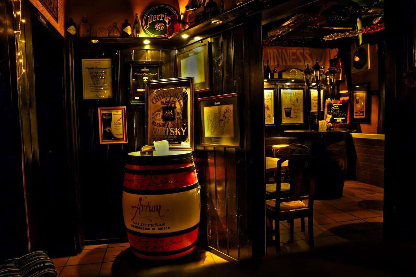 Pint in Irish Bar