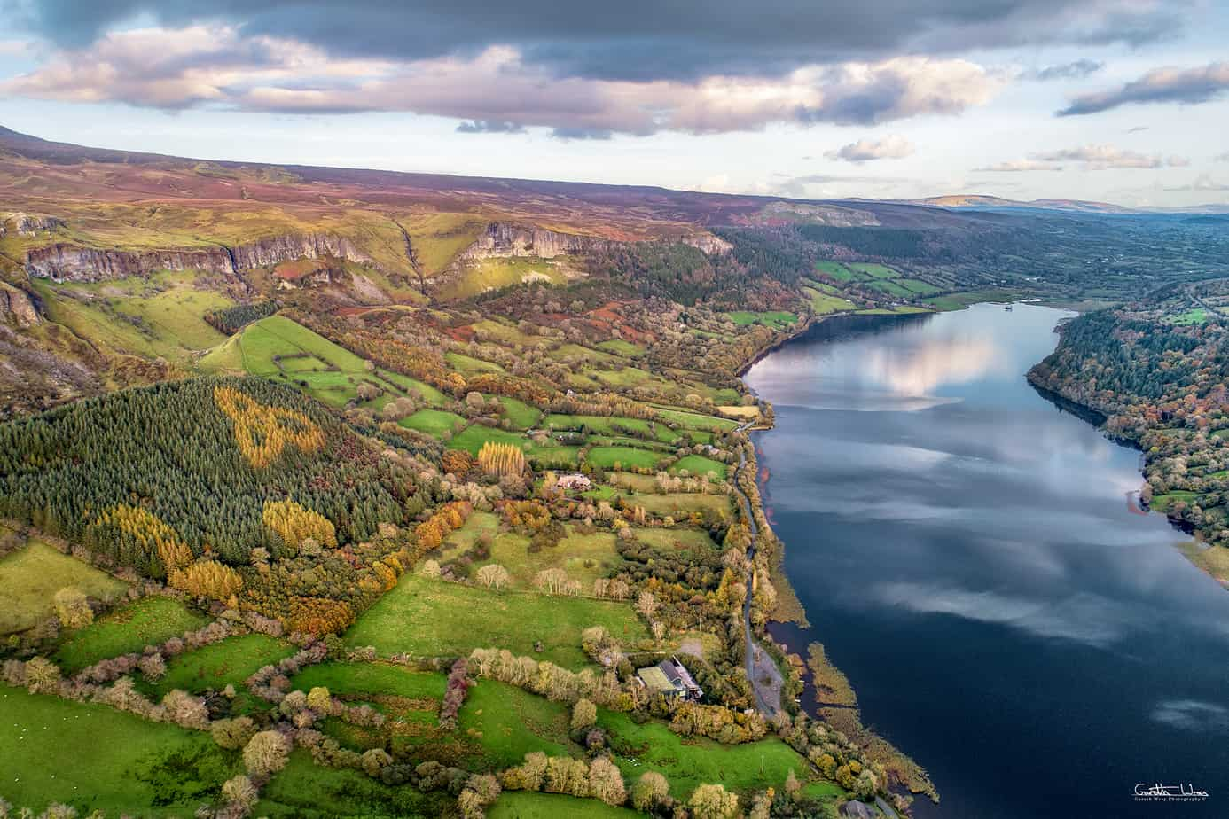 """View of the """"Celtic Trinity Knot & Glencar Lough"""" another hidden celtic symbols"""