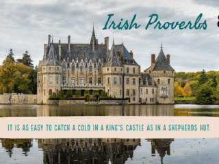 It is as easy to catch a cold in a King's castle as a shepherds hut best Irish proverbs