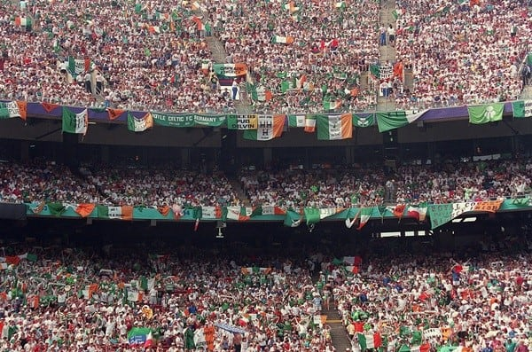 Irish fans at the World Cup in the US
