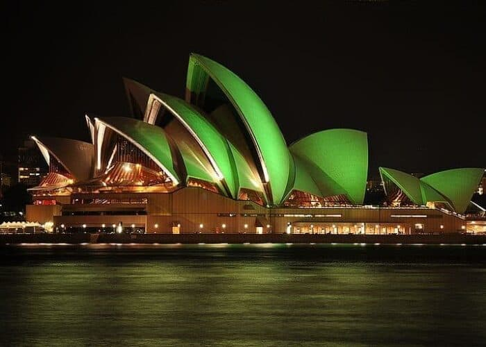 Sydney opera house going green for St Patrick's day