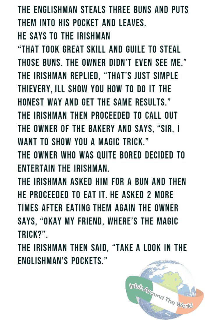 An Irishman And An Englishman Walk Into A Bakery….