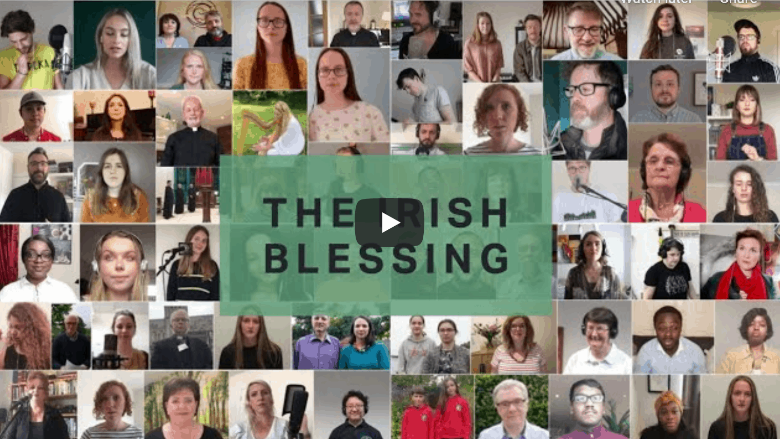 Irish blessing over 300 churches accross every county in Ireland
