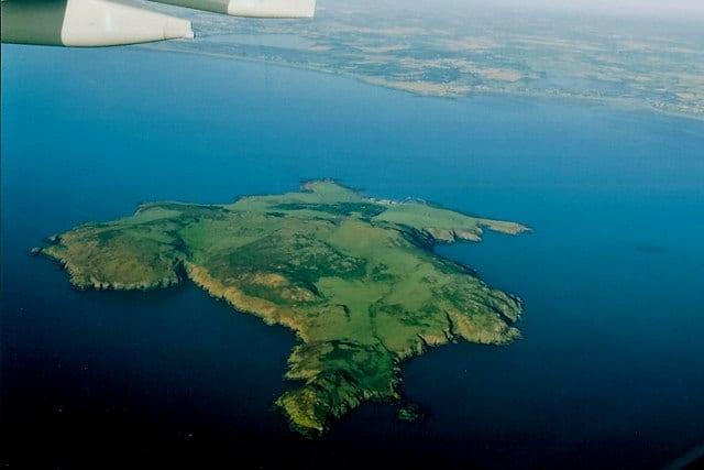 Ariel view of Lambay Island