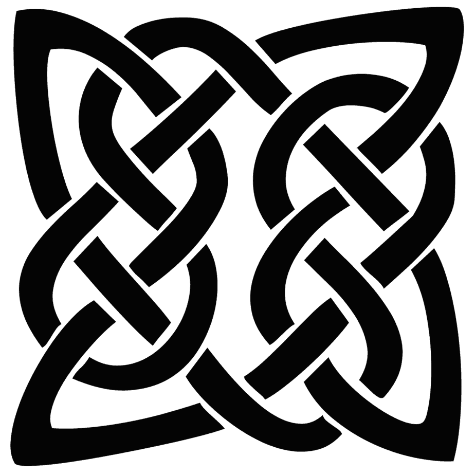A picture of a Celtic Quaternary Knot