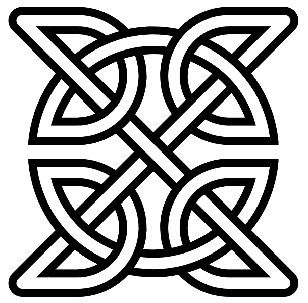 The Celtic knot with four sides