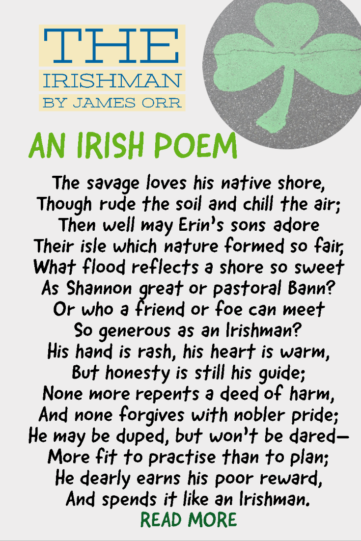 The Irishman poem