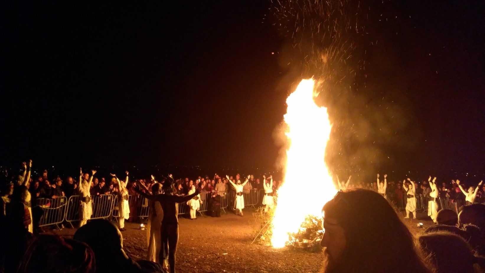 Beltane fire start of summer festival