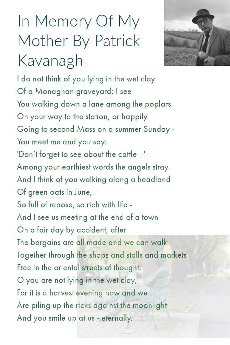 In Memory Of My Mother By Patrick Kavanagh Irish Poem