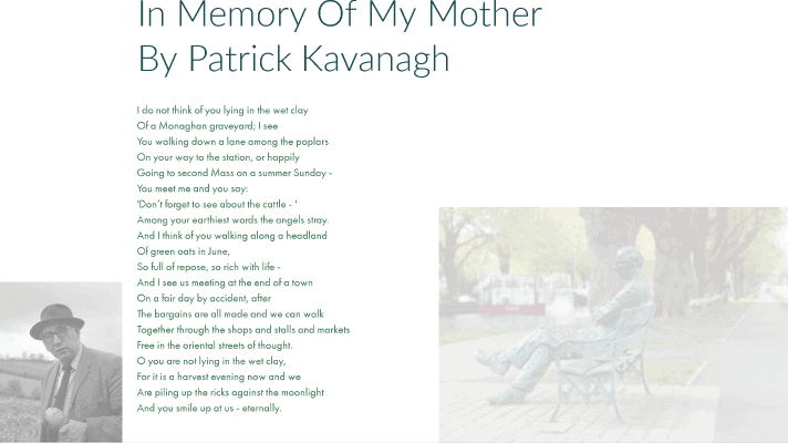 In memory of my mother poem