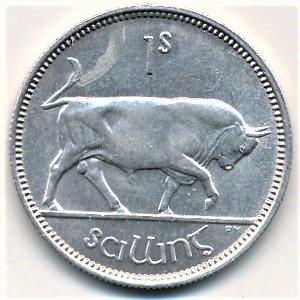 1937 old Irish shilling