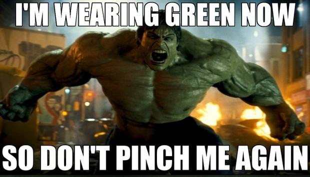 Im wearing green st patricks day memes