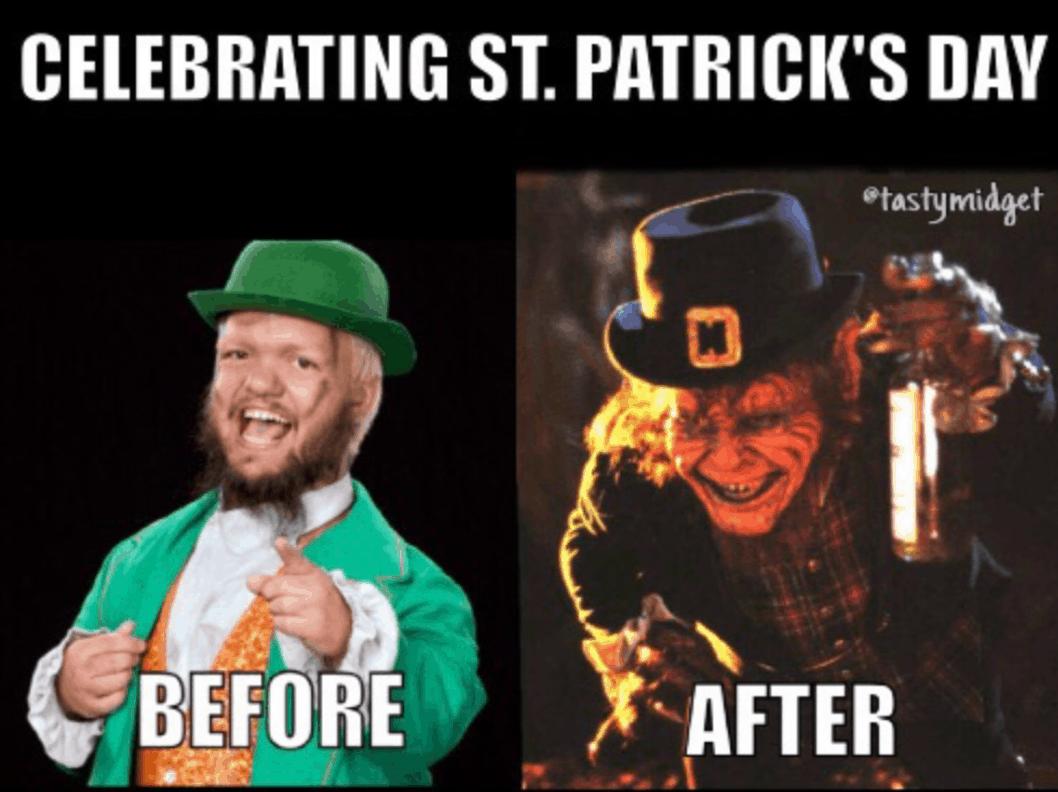 St Patricks day meme 2018 Vs 2021