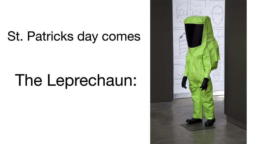 St Patrick's day memes the leprechaun in a suit