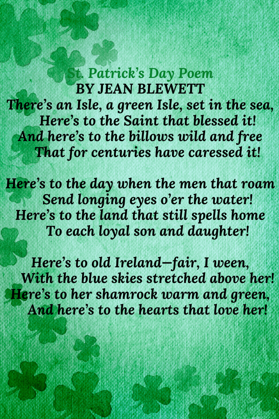 St Patricks day poem