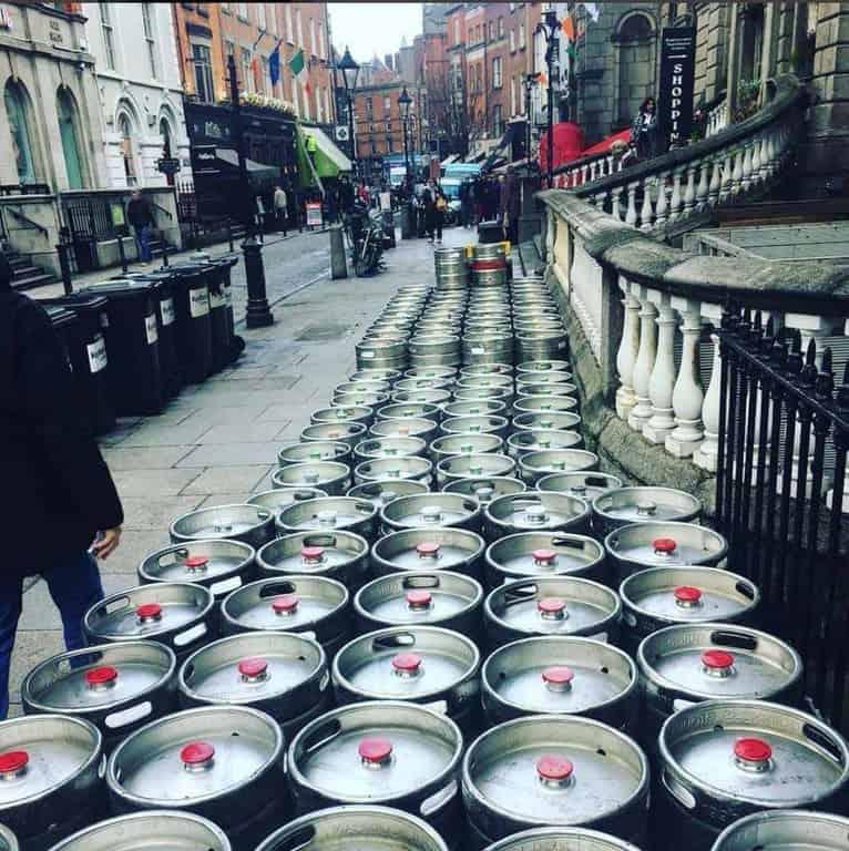 An Irish pub getting ready from 2019