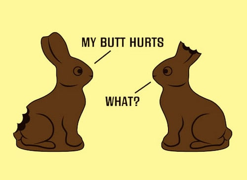 My butt hurts what easter meme