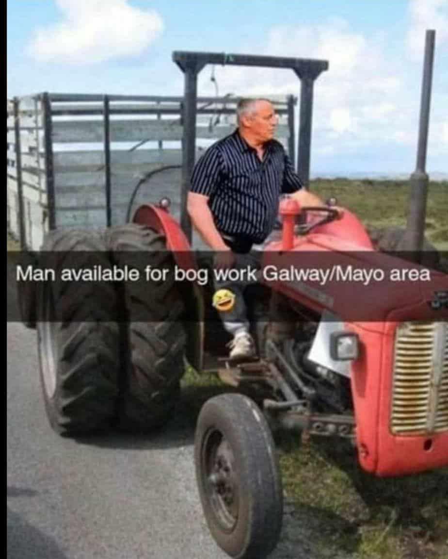 Matt Le Blanc Irish meme tractor
