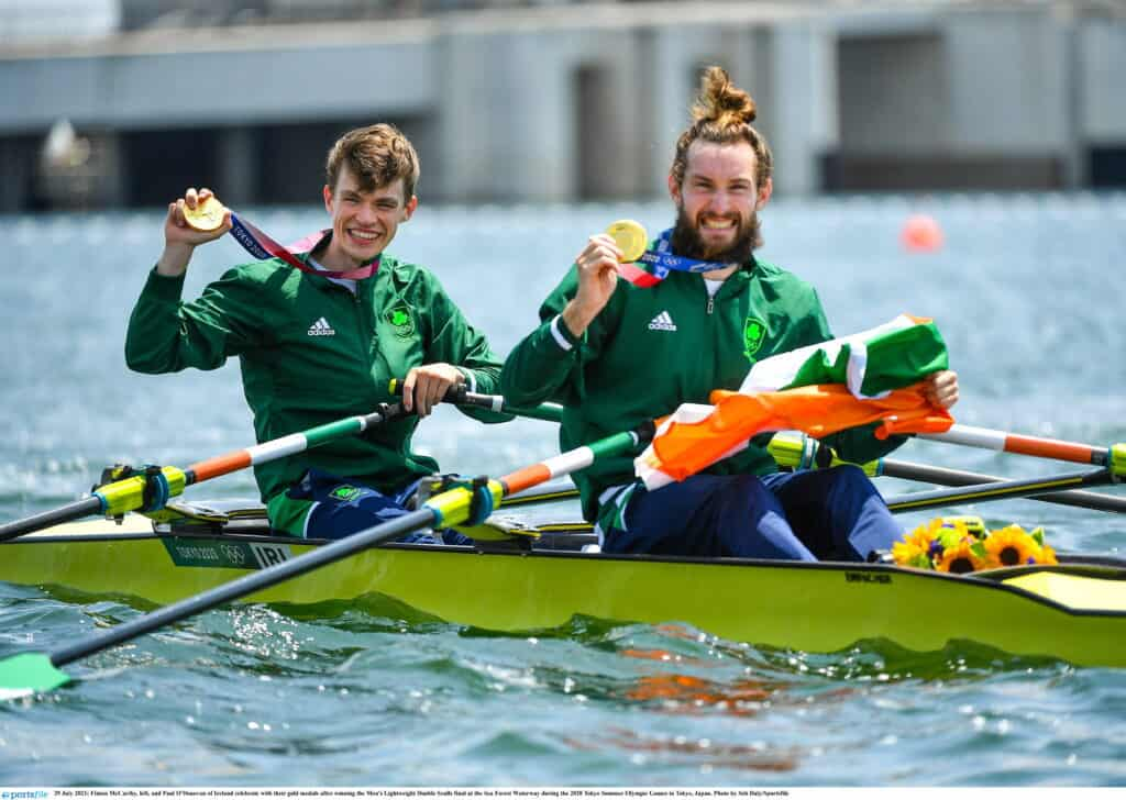 Irish Olympians Paul O'Donovan And Fintan McCarthy Become First Irish Athletes To Win Tokyo 2020 Gold