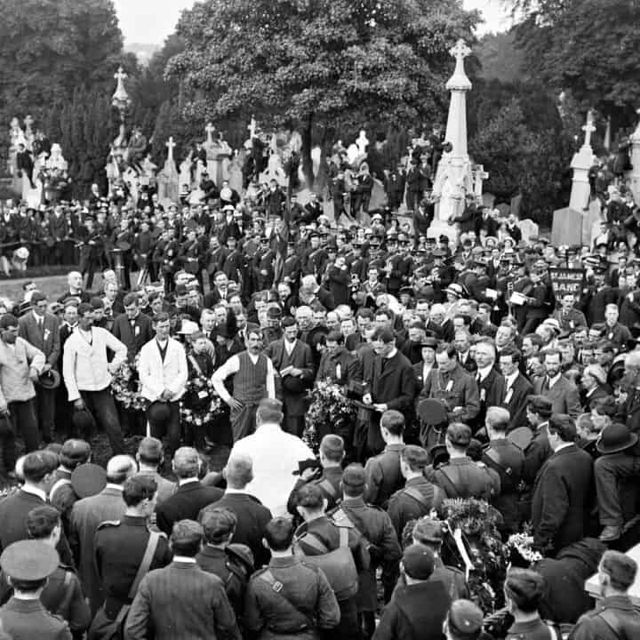 1 August 1915 – Patrick Pearse delivered the graveside oration for Jeremiah O'Donovan Rossa.